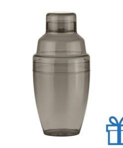 Cocktail shaker plastic zwart bedrukken