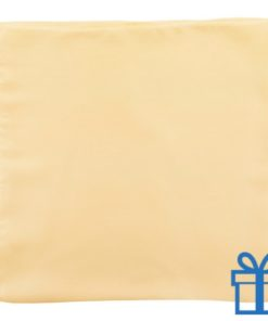 Dames sjaal polyester naturel bedrukken