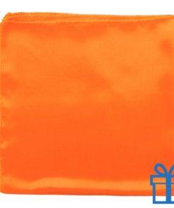 Dames sjaal polyester oranje bedrukken