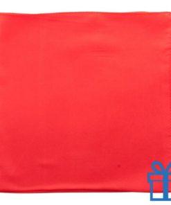 Dames sjaal polyester rood bedrukken