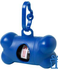 Dispenser hond voor poepzakjes blauw bedrukken
