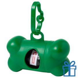 Dispenser hond voor poepzakjes groen bedrukken