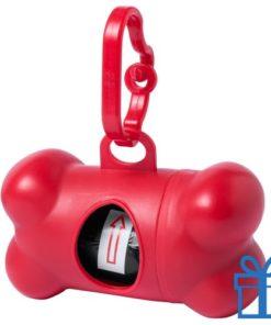 Dispenser hond voor poepzakjes rood bedrukken