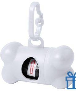 Dispenser hond voor poepzakjes wit bedrukken