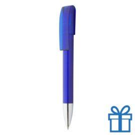 Doorzichtige balpen chromen tip blauw
