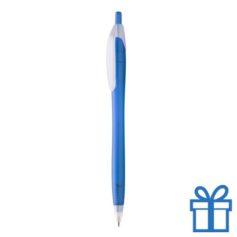 Doorzichtige plastic balpen blauw