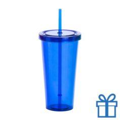 Drinkbeker transparant blauw bedrukken