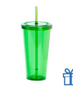 Drinkbeker transparant groen bedrukken