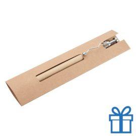 Duurzame balpen gerecycled papier zilver