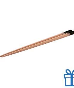 Eetstokjes bamboe zwart bedrukken