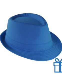 Fashion hoed blauw bedrukken