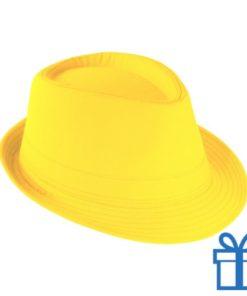 Fashion hoed geel bedrukken