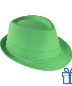 Fashion hoed groen bedrukken