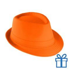 Fashion hoed oranje bedrukken