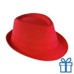Fashion hoed rood bedrukken