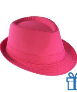 Fashion hoed roze bedrukken