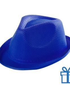 Fashion hoedje kids blauw bedrukken