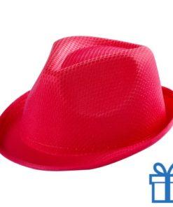 Fashion hoedje kids rood bedrukken