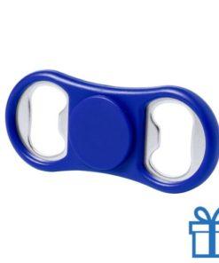 Fidget spinner flessenopener blauw bedrukken