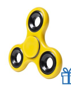 Fidget spinner geel bedrukken