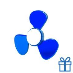 Fidget spinner nieuw model blauw bedrukken