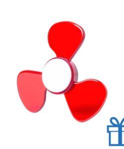 Fidget spinner nieuw model rood bedrukken