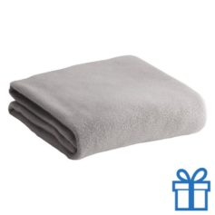 Fleece deken grijs bedrukken
