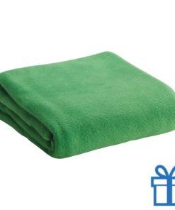 Fleece deken groen bedrukken