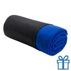 Fleece deken luxe blauw bedrukken