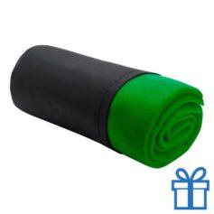Fleece deken luxe groen bedrukken