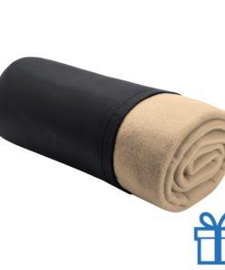 Fleece deken luxe naturel bedrukken