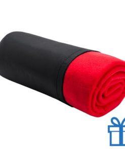 Fleece deken luxe rood bedrukken