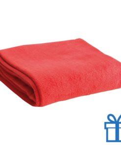 Fleece deken rood bedrukken