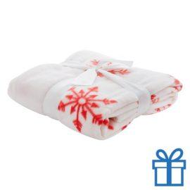 Fleece deken wit bedrukken