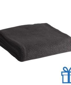 Fleece deken zwart bedrukken