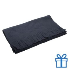 Fleece sjaal navy bedrukken
