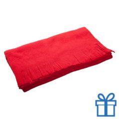 Fleece sjaal rood bedrukken