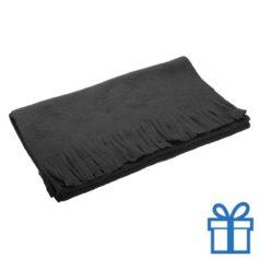 Fleece sjaal zwart bedrukken