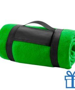 Fleecedeken polar carry-on groen bedrukken