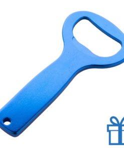 Fles opener aluminium blauw bedrukken