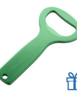 Fles opener aluminium groen bedrukken