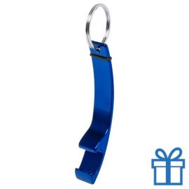 Flesopener sleutelhanger blauw bedrukken