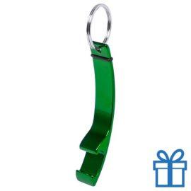 Flesopener sleutelhanger groen bedrukken