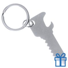 Flesopener sleutelhanger sleutel zilver bedrukken
