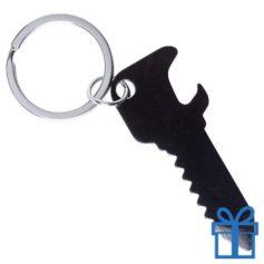 Flesopener sleutelhanger sleutel zwart bedrukken