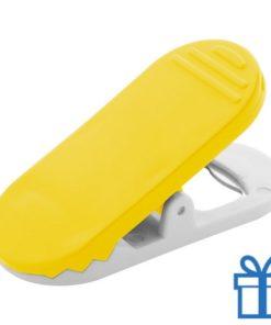 Flessenopener magneet geel bedrukken