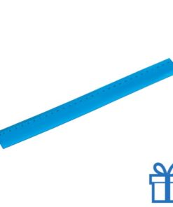 Flexibel plastic liniaal blauw bedrukken