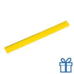 Flexibel plastic liniaal geel bedrukken