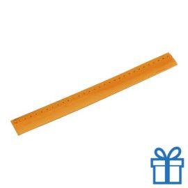 Flexibel plastic liniaal oranje bedrukken