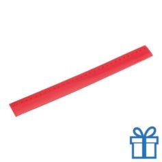 Flexibel plastic liniaal rood bedrukken